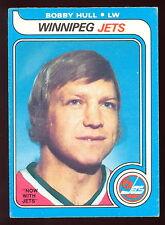 1979 80 OPC O PEE CHEE WHA #185 BOBBY HULL EX-NM WINNIPEG JETS HOCKEY CARD