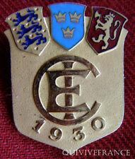 BG4947 - INSIGNE CHAMPIONNATS EUROPEENS NORVEGE SUEDE DANEMARK 1930 ?