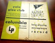 "Yale Glee Club  1950  Columbia  CL 6097   Long Play  Microgroove 10"" Album   VG+"