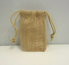 """1 BURLAP SACK 3"""" BY 5"""" WEDDING FAVOR BAGS WITH DRAWSTRINGS JEWELRY COIN GIFT"""