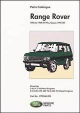 Range Rover Parts Catalogue 1992-1994 Incl. Classic 1995 RR95PH NEW