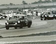 Vintage 8 X 10 Auto Racing Photo Daytona 1964 Cheetah No. 14 Ralph Salyer & MGB