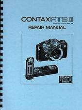Contax RTS II Quartz Camera  Service & Repair Manual