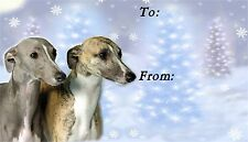 Whippet Christmas Labels by Starprint - No 3
