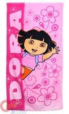 Dora The Explorer Dora Beach Bath Towel 30x60 Cotton Pink Flowers Hello