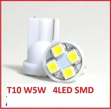 2 AMPOULES 4 LED SMD W5W BLANC XENON VEILLEUSE T10 PUSH WEDGE LIGHT BULB WHITE