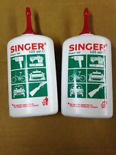 2x125ml SINGER DOMESTIC SEWING MACHINE OIL,KNITTING/ OVERLOCKER & JANOME MACHINE
