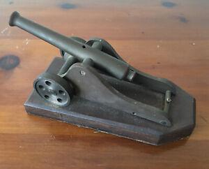 Antique Brass Signal Cannon Black Powder Firing Military Unique Mini Desktop