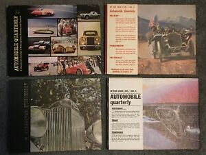 Automobile Quarterly Vol. 1-4  ALL FOUR 1962 Issues.