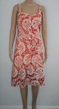TU Womens Multi Madras Floral Print Cotton Sleeveless Shirt Dress Size 12 New