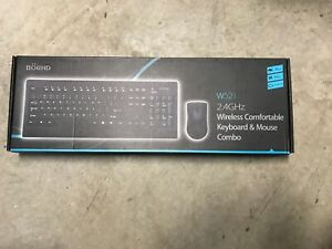 Bornd W521 Multimedia Wireless USB Keyboard and Optical Mouse Bundle - Black