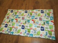 New - Many Colored Dinosaur Print Handmade Quilted Baby Bassinet, Changing Pad