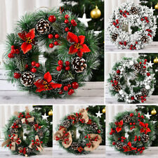 Christmas Wreath Door Wall Window Hanging Garland Ornament Xmas Party Decoration