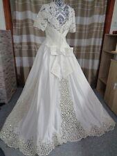(5)Edles Damen Braut Standesamt Abend Kleid GR: GR: 42