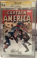 Captain America #14 (2006) Classic Hmage Cover CGC 9.6 White SS Brubaker Epting