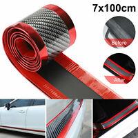 7CM*1M DIY Car Sticker Carbon Fiber Antiscratch Strip Bumper Door Sill Protector