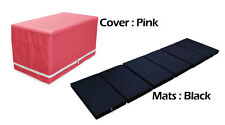 MULTI PURPOSE S.LEATHER MAGIC BOX YOGA GYM CUSHION FOLDABLE MATS PINK COLOR