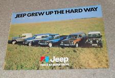 BROCHURE JEEP CJ7 RENEGADE Golden Eagle CJ6 CHEROKEE S CAPO Capo GIALLO J10 - 1978