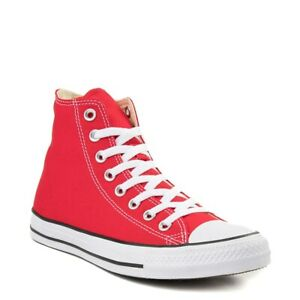 Converse All Star Hi Top Womens & Mens Canvas Chuck Taylor Trainers Shoes - RED