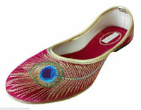 Women Shoes Indian Handmade Leather Jutties Flip Flops Flat Red UK 7.5 EU 42