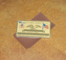NOS Shriners Freemason Metal Social Security Card w/ vinyl cover