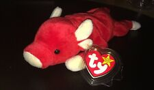 Ty Beanie Baby Babies SNORT the PIG 1995 Tag Protector Stuffed Toy Animal