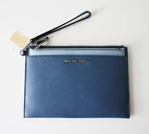 Michael Kors Bag/Wristler/Clutch Jet Set Travel Blue 2 IN 1