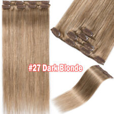 DIY CYRL DYE 100G THICK END DOUBLE DRAWN Clip in Remy Human Hair Extensions USPS