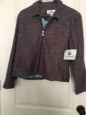 ERIN LONDON Women's Dressy Blazer Twill Suit Jacket Sz S Long Sleeve Clothes