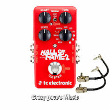 TC Electronic Hall of Fame 2 Reverb Pedal With 2 Patch Cables