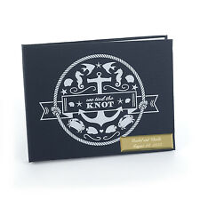 We Tied The Knot Nautical Themed Personalized Wedding Guest Book (41040)