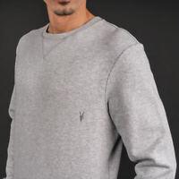 Allsaints Men's Wild Crew Grey Marl Sweatshirt  -  MF041E - Convenient Operation
