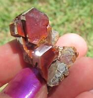 :) :)  Sweet Large Red Vanadinite Crystals   Exquisite Miniature Specimen  :) :)