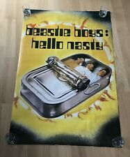 Original Vtg Beastie Boys Huge Subway Poster Hello Nasty Rare Rock Hip-Hop Rap