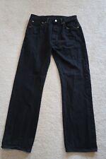 "` Mens Jeans size 33 x 32 (meas 31 x 31"") Levis black 501 button fly classic"