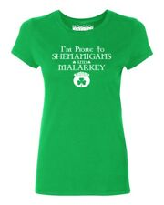 I'm Prone to Shenanigans Women's T-shirt funny drinking St. Patrick's Day tee