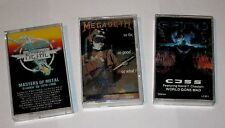 ROCK  METAL MEGADETH MASTERS OF METAL CJSS LOT OF 3 CASSETTE TAPES LIGHTLY USED
