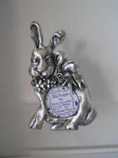 "Frame Ruth Reynolds Darby Rabbit Folk Frames Ashleigh Manor Pewter 2.5"" Picture"