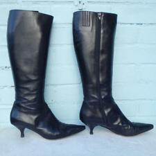 Hobbs All Leather Boots Sz Uk 7 Eur 40 Sexy Womens Ladies Black Boots Christmas