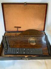 Antique Josef Wolf German Concert Zither Harp 1821? With Case A692