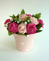 Bright Pink & Light Pink Table Centrepiece - Wedding Flowers