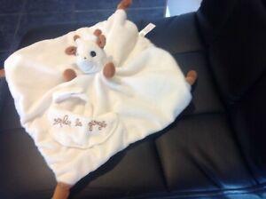 Cream & beige sophie la giraffe Comforter comfort blanket cute