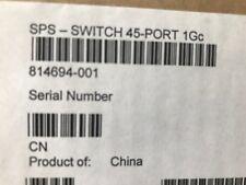 814694-001 710601-002 HP 45 puertos Switch 1Gc, HP renovar, Supplied Con Garantía