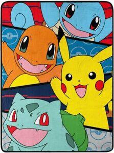 "Pokemon Go Pikachu Throw Plush Soft Blanket 46"" x 60"""