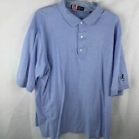 Carnoustie Short Sleeve Golf Polo XL Blue. Embroidered Logo On Left Sleeve
