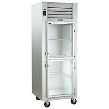 Traulsen G11000 Reach-In Refrigerator with Hinged Right Half Height Glass Doors