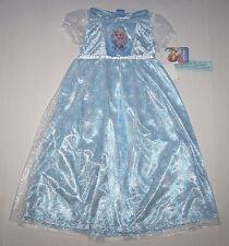 Disney Princess Frozen Elsa Nightgown Pajamas Costume Snowflakes Girl ea8415413