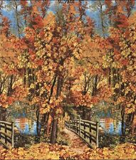 Nature Landscape Wald Patchworkstoffe Stoffe Patchwork Baumwollstoffe Landschaft