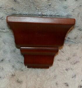 "Small cherry wood wall shelf, 5"" square, 4 3/4"" high, 2001 Burnes of Boston"