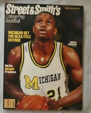 1989 Street & Smith's College Basketball Yearbook Rumeal Robinson Michigan